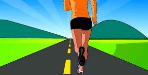 Crtež osobe koja trči jer je trčanje jedan od načina kako najjednostavnje smršati.