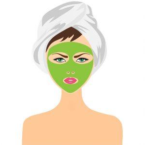Maska za lice na ženi